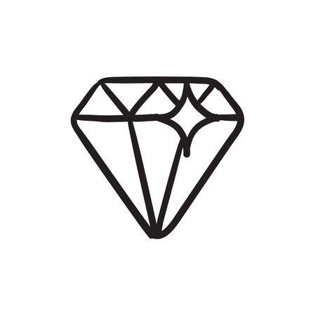 Diamond sketch icon.
