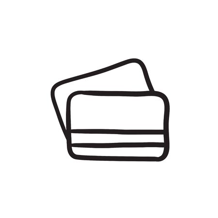 Credit cards sketch icon. Ilustracja