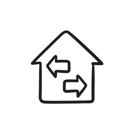 resale: Property resale sketch icon.