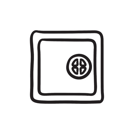 Safe sketch icon.