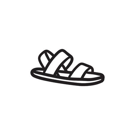 sandalia: Sandal sketch icon.
