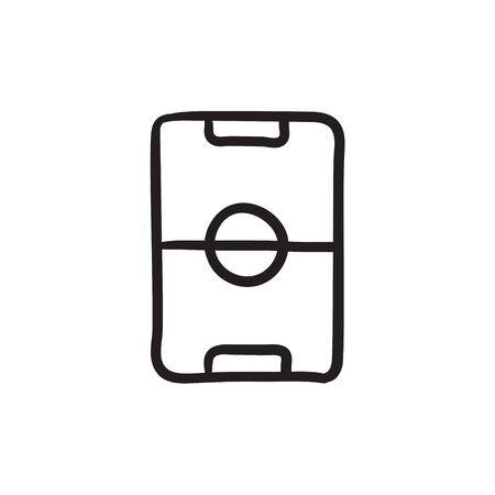 Stadium layout schets icoon. Stock Illustratie