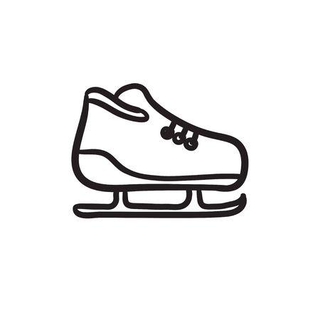 Skate schets pictogram. Stock Illustratie
