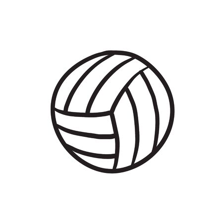 Volleybal bal schets pictogram. Stock Illustratie