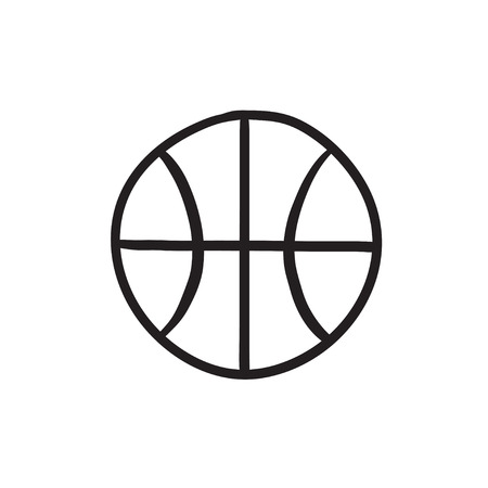 Basketball ball sketch icon.