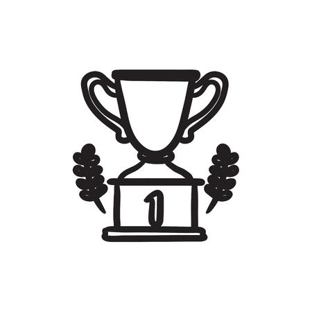 Trofee schets pictogram.