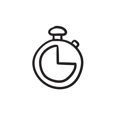Stopwatch sketch icon. Ilustração