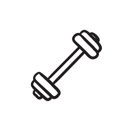 Dumbbell sketch icon. Illustration