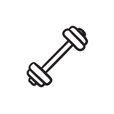 Dumbbell sketch icon. Illustration