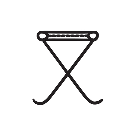 Folding chair sketch icon. Illustration