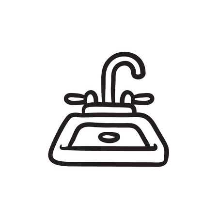 Sink sketch icon.