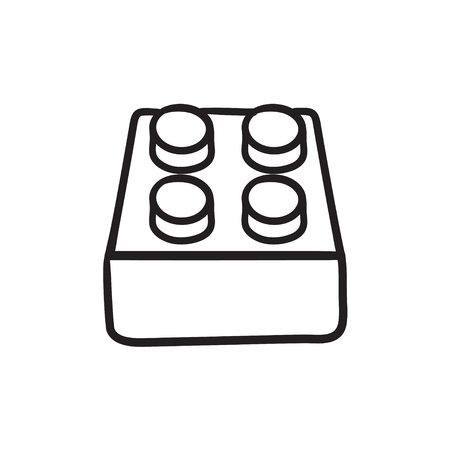 System part vector sketch icon isolated on background. Hand drawn System part icon. System part sketch icon for infographic, website or app. Illusztráció