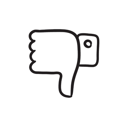 disapprove: Thumbs down sketch icon. Illustration