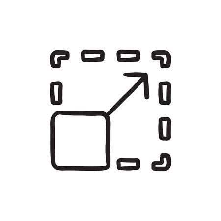 scalability: Scalability sketch icon.