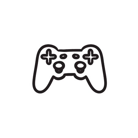 Joystick sketch icon. 矢量图像