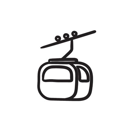 Funicular sketch icon. Иллюстрация