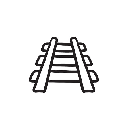 Railway track sketch icon.