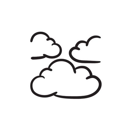 Clouds sketch icon.