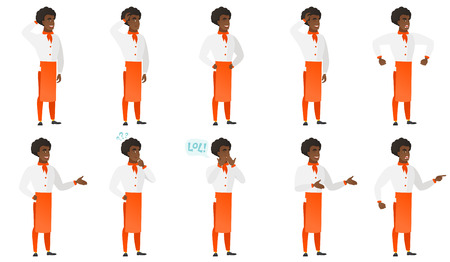 laugh out loud: Vector set of chief-cooker characters.