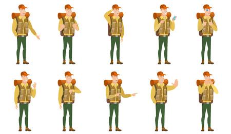 Vector set of traveler characters.