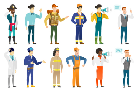 Vector set of professions characters. Illustration