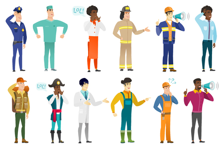 Vector set of professions characters. Vectores
