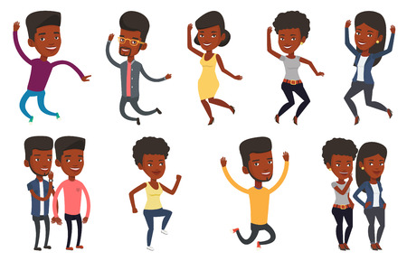 Vector set of people during leisure activity. Ilustracja
