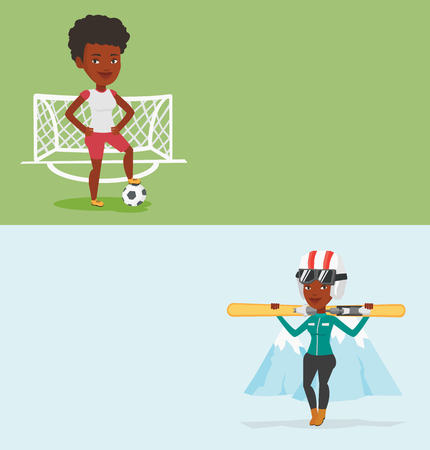 Two sport banners with space for text. Ilustrace