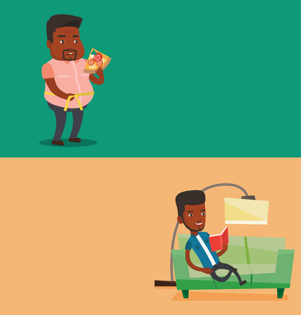 Two lifestyle banners with space for text. Illustration