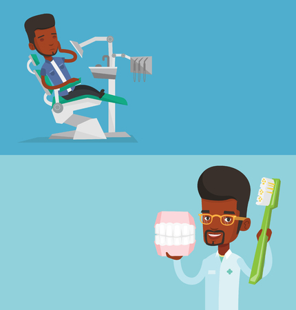 orthodontist: Two medical banners with space for text.