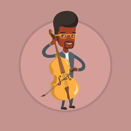 Man playing cello vector illustration. Ilustrace