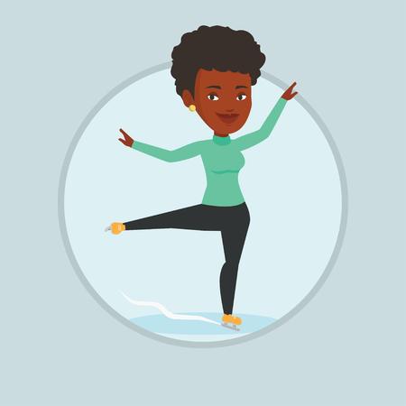 Female figure skater vector illustration. Illustration