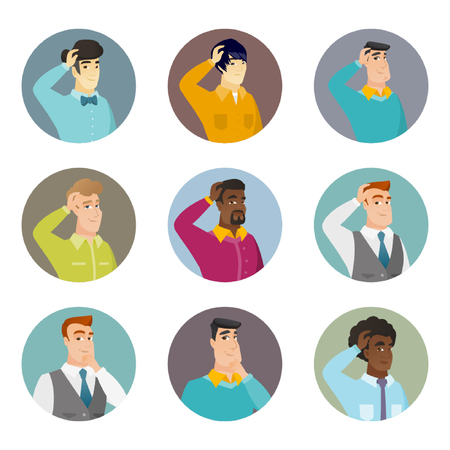 Vector set of business characters in the circle. Vektorové ilustrace