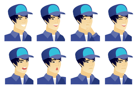 Vector set of mechanic characters. Stock Illustratie