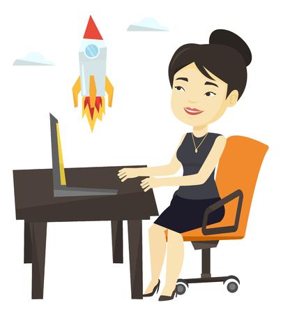 Business start up vector illustration. Illustration