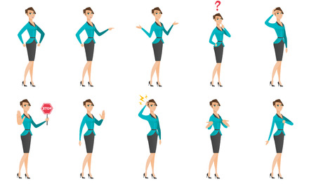 Vector set of illustrations with business people. Illustration