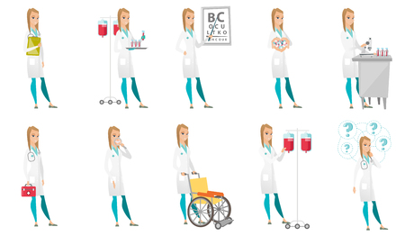 Vector set of doctor characters. Ilustracja