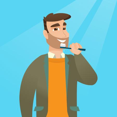 歯を磨く人はベクトル イラストです。 写真素材 - 79077624