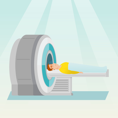Magnetic resonance imaging vector illustration.