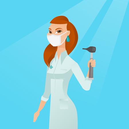 Ear nose throat doctor vector illustration.