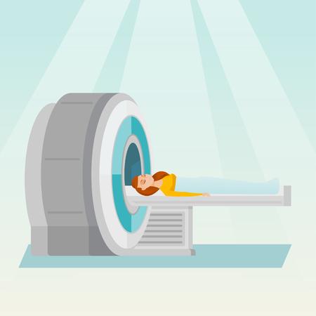 ct scan: Magnetic resonance imaging vector illustration.