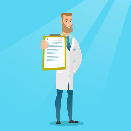 Doctor con una ilustración del vector del tablero. Ilustración de vector