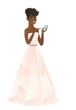 woman cellphone: African-american fiancee holding a mobile phone.