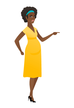 Furious pregnant woman screaming. Ilustrace