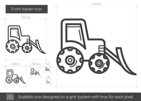 loader: Front loader line icon.