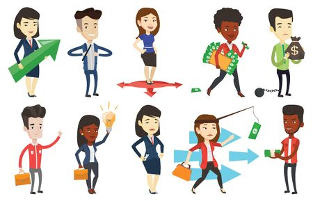 taxpayer: Vector set of business characters. Illustration