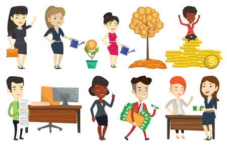 Vector set of business characters. Banco de Imagens - 80040094
