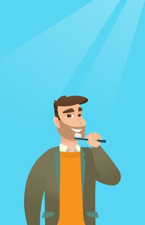 歯を磨く人はベクトル イラストです。 写真素材 - 80040266