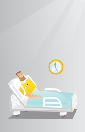 Man with a neck injury vector illustration.