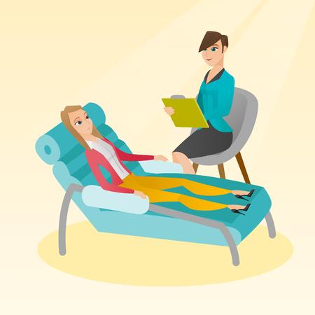 Psychologist having session with patient. Çizim